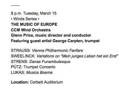 Cincinatti:Trumpet Concerto